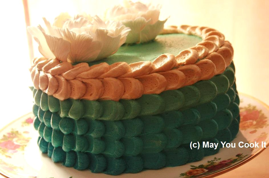 How To Design A Cake Using Butter Icing : Mocha Chiffon Cake with Buttercream frosting May You ...